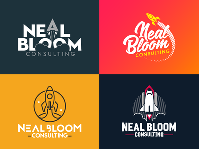Neal Bloom Consulting Logo Explore endreola design logo design rocket logo