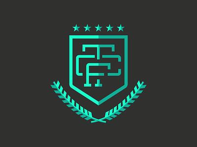 Torrance Crossfit Monogram Shield crest crossfit tshirt tcf badge monogram shield logo