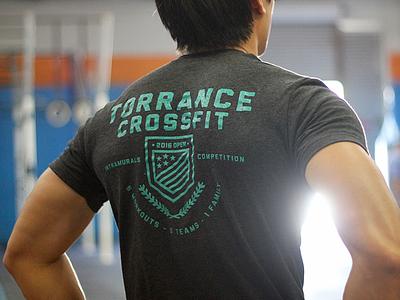 Torrance Crossfit 2016 Open Shirt t-shirt shirt badge crossfit crest tshirt
