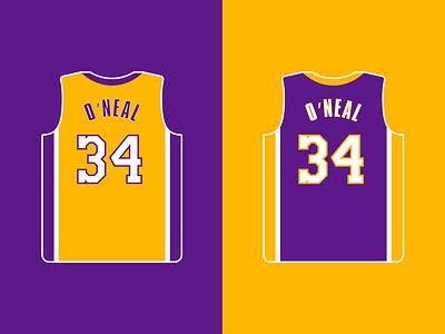 My Favorite Lakers - 2000's SHAQ vector shaq nba lakers basketball