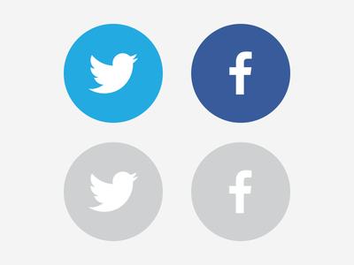 logo facebook twitter