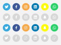 Social Icons Sketch File + PNG + SVG