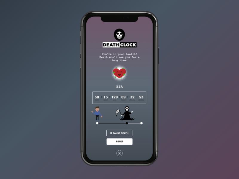 DailyUI 014  - Death Clock Timer App timer dailyui014 dailyui dailyuichallenge