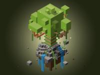 Isometric Tree Ruin
