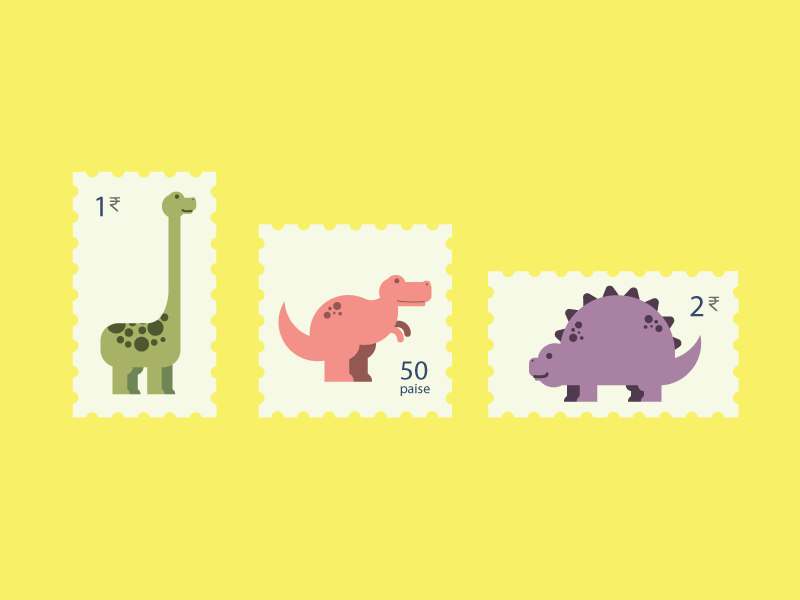 Dino Stamp cartoon play illustrate drawing doodle dinosaur vintage indian color graphic stamp