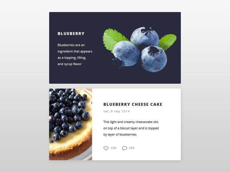 Card fruit ui kit daily design daily ui food blueberry design ux ui card