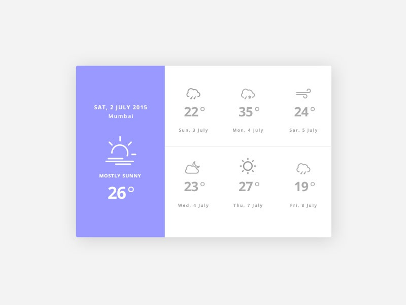 Weather Widget ui design weather widget inspiration app web dailyui design ux ui icon widget weather