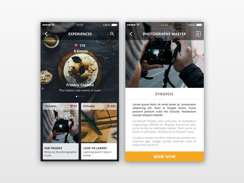 Book Event booking app design interface daily ui web mobile detail card experience interface event ux ui