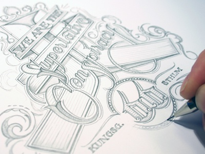 WeSC schmetzer wesc typography pencil limited edition ornament scroll lettering superlative conspiracy