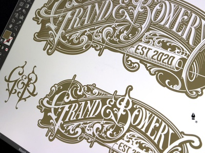 Grand & Bowery - progress vector monogram typography lettering hand schmetzer