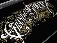 Grand & Bowery - vector grand  bowery logotype vector typography lettering hand schmetzer
