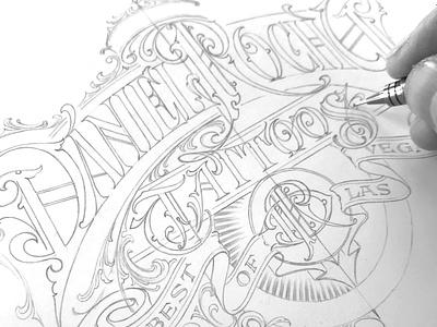 Daniel Rocha - sketch sketch logotype lettering hand typography schmetzer