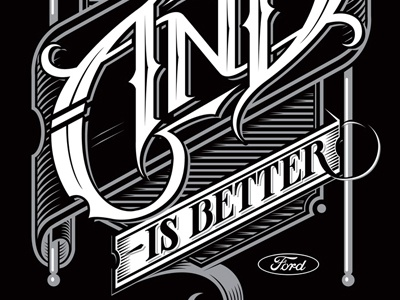 AND ambigram schmetzer ford social andisbetter and better vector typography ambigram
