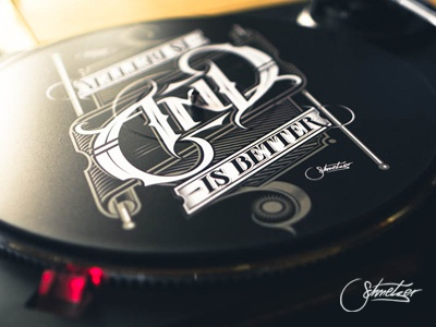 AND schmetzer ford social and better typography ambigram dj vinyl