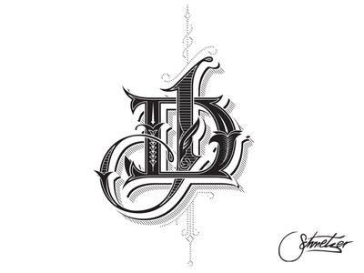 DJ monogram schmetzer monogram dj victorian letters damian james