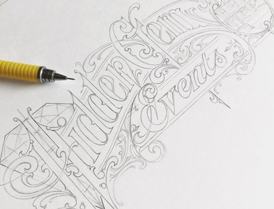 Hidden Gem - sketch sketch pencil lettering hand schmetzer
