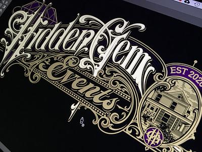 Hidden Gem - vector vector logotype lettering hand typography schmetzer