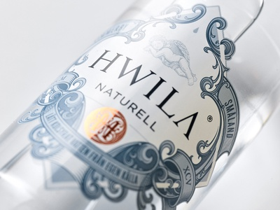 HWILA naturell water branding label design packaging hwila schmetzer