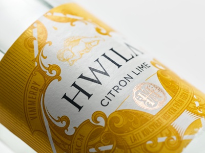 HWILA citron monogram branding packaging design label hwila schmetzer