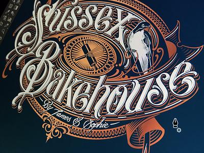 Sussex Bakehouse handlettering lettering vector logotype bakehouse sussex schmetzer