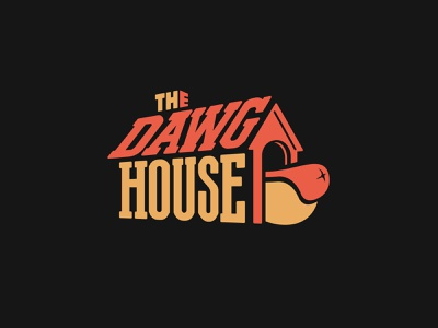 The Dawg House house dawg logo logotype lettering schmetzer