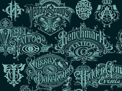 Logo collection logo monogram logotype lettering hand typography schmetzer