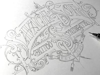 Savage Son - sketch tattoo savageson sketch lettering hand typography schmetzer