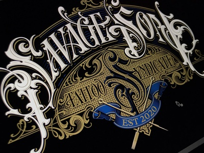Savage Son - vector tattoo savageson vector lettering hand typography schmetzer