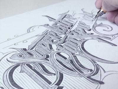 WeSC - WIP schmetzer typography wesc superlative conspiracy wip pencil sketch