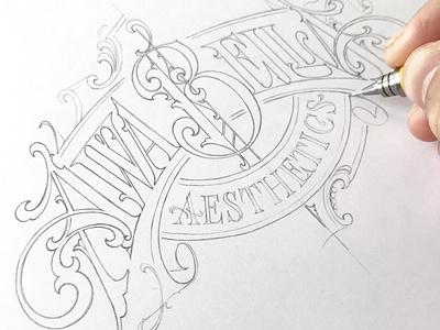 """Awa Bella"" - sketch logotype sketch lettering hand typography schmetzer"