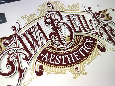"""Awa Bella"" - progress logotype vector lettering hand typography schmetzer"