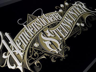 Hemdenstickerei Steinwinter vector logotype typography lettering hand schmetzer