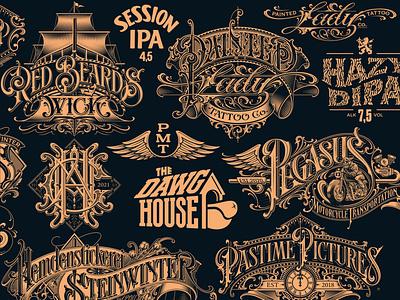 Logotypes vol. 9 logo wordmark monogram logotype typography lettering hand schmetzer