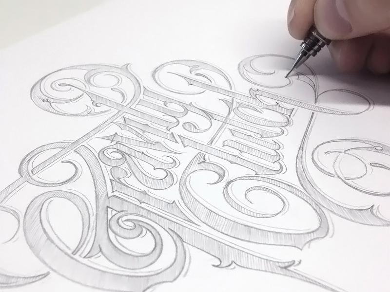 Gravity Clutch schmetzer pencil sketch logotype for gravity clutch