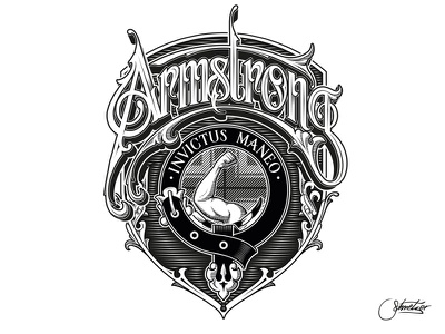 Armstrong - Vector schmetzer armstrong coat of arms family crest vector
