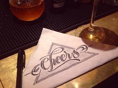 Cheers schmetzer napkin doodle cheers tgif