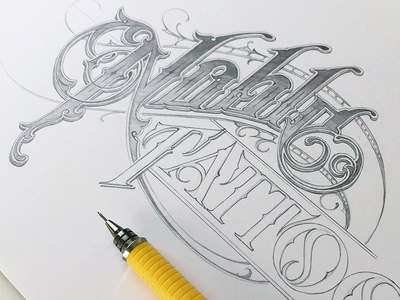 Noble Tattoo schmetzer noble tattoo hand lettering pencil sketch type