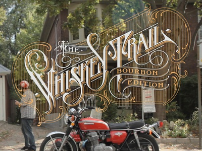 The Whiskey Trail lettering hand logotype trail whiskey the schmetzer