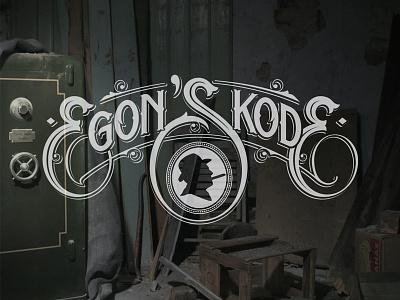 Egon's Kode lettering hand logotype jäger franz rode egons schmetzer