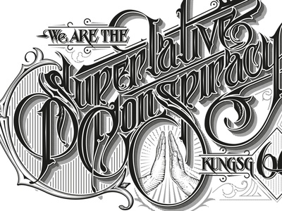 Superlative Conspiracy  type lettering handlettering conspiracy superlative wesc schmetzer