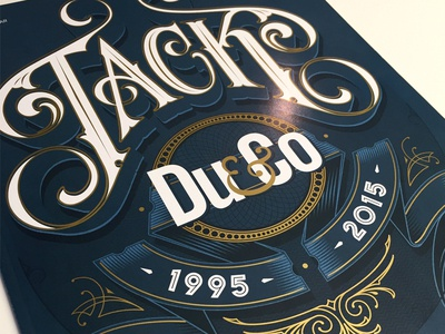 Du&co type lettering typographic cover magazine duco schmelzer