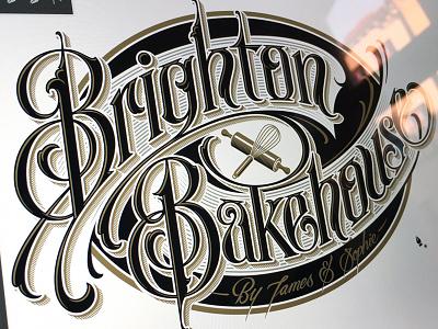 Brighton Bakehouse lettering hand schmetzer logotype bakehouse brighton