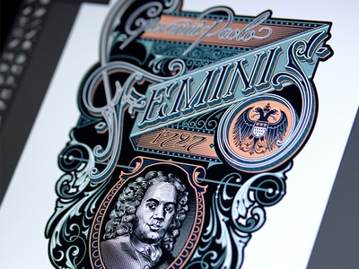 Feminis typography lettering hand design cologne de eau schmetzer