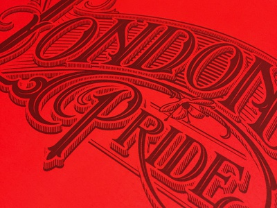 London Pride typography lettering handlettering wordmark pride london fullers schmetzer