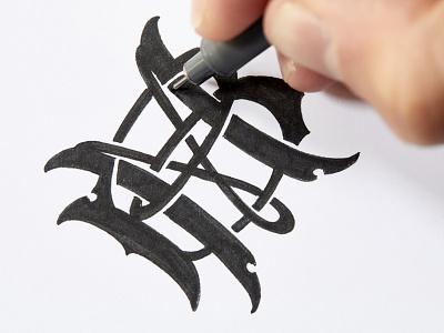 BM monogram lettering hand monogram bm byggmästaren schmetzer