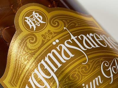 BM packaging lettering hand label beer monogram bryggmästarens schmetzer