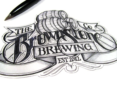 Brownstone schmetzer brownstone brewing company ballpoint pen paper beer ale bar pub