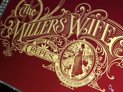 Millers Wife - progress type lettering hand vector miller branding schmetzer