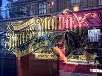 Brass Monkey window