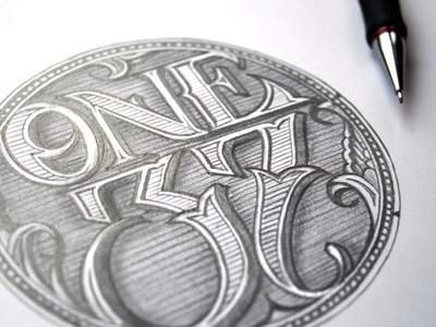 One37 schmetzer typography one 37 lettering victorian detail pencil drawing